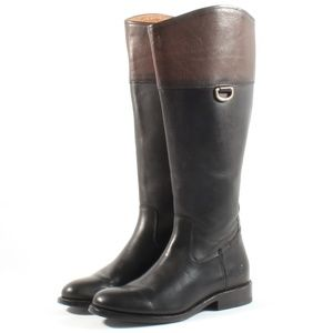 Frye Jayden D Ring Tall Leather Riding Boots Black
